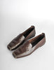 Chanel Vintage CC Logo Brown Leather Loafers - Amarcord Vintage Fashion  - 2
