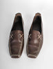 Chanel Vintage CC Logo Brown Leather Loafers - Amarcord Vintage Fashion  - 3