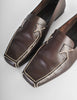 Chanel Vintage CC Logo Brown Leather Loafers - Amarcord Vintage Fashion  - 4