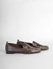 Chanel Vintage CC Logo Brown Leather Loafers - Amarcord Vintage Fashion  - 5