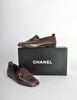 Chanel Vintage CC Logo Brown Leather Loafers - Amarcord Vintage Fashion  - 8