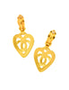 Chanel Vintage Brushed Gold CC Logo Heart Earrings - Amarcord Vintage Fashion  - 5