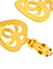 Chanel Vintage Brushed Gold CC Logo Heart Earrings - Amarcord Vintage Fashion  - 6