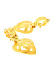 Chanel Vintage Brushed Gold CC Logo Heart Earrings - Amarcord Vintage Fashion  - 2