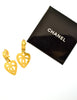 Chanel Vintage Brushed Gold CC Logo Heart Earrings - Amarcord Vintage Fashion  - 7