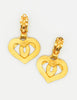 Chanel Vintage CC Logo Heart Earrings - Amarcord Vintage Fashion  - 8