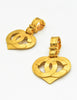 Chanel Vintage CC Logo Heart Earrings - Amarcord Vintage Fashion  - 4