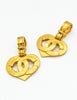 Chanel Vintage CC Logo Heart Earrings - Amarcord Vintage Fashion  - 3