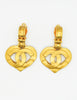 Chanel Vintage CC Logo Heart Earrings - Amarcord Vintage Fashion  - 2