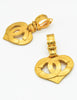 Chanel Vintage CC Logo Heart Earrings - Amarcord Vintage Fashion  - 5