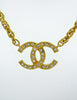 Chanel Vintage Gold Rhinestone CC Logo Necklace - Amarcord Vintage Fashion  - 6