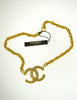 Chanel Vintage Gold Rhinestone CC Logo Necklace - Amarcord Vintage Fashion  - 2