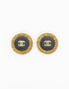 Chanel Vintage Black/Gold CC Logo Chain Wrapped Earrings - Amarcord Vintage Fashion  - 2