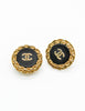 Chanel Vintage Black/Gold CC Logo Chain Wrapped Earrings - Amarcord Vintage Fashion  - 3