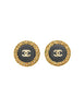 Chanel Vintage Black/Gold CC Logo Chain Wrapped Earrings - Amarcord Vintage Fashion  - 1