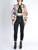 Chanel Vintage Novelty Print Quilted Bomber Jacket - Amarcord Vintage Fashion  - 2