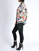 Chanel Vintage Novelty Print Quilted Bomber Jacket - Amarcord Vintage Fashion  - 5