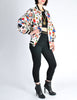 Chanel Vintage Novelty Print Quilted Bomber Jacket - Amarcord Vintage Fashion  - 6