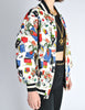 Chanel Vintage Novelty Print Quilted Bomber Jacket - Amarcord Vintage Fashion  - 7