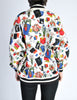Chanel Vintage Novelty Print Quilted Bomber Jacket - Amarcord Vintage Fashion  - 10