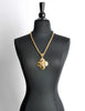 Chanel Vintage Gold CC Logo Crest Flower Necklace - Amarcord Vintage Fashion  - 3