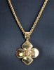 Chanel Vintage Gold CC Logo Crest Flower Necklace - Amarcord Vintage Fashion  - 4