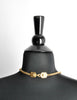 Chanel Vintage Gold CC Logo Crest Flower Necklace - Amarcord Vintage Fashion  - 6