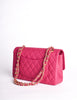 Chanel Vintage Fuchsia Pink Quilted Caviar 2.55 Medium Classic Double Flap Bag
