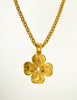 Chanel Vintage Gold CC Clover Necklace