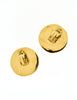 Chanel Vintage Large Gold CC Logo Plate Earrings - Amarcord Vintage Fashion  - 4