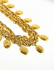 Chanel Vintage Gold Namesake Charm Multi Strand Necklace