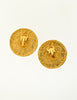 Chanel Vintage Gold CC Logo Round Nugget Earrings - Amarcord Vintage Fashion  - 5