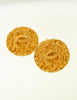 Chanel Vintage Gold CC Logo Round Nugget Earrings - Amarcord Vintage Fashion  - 4