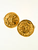 Chanel Vintage Gold Pegasus Namesake Earrings - Amarcord Vintage Fashion  - 2