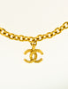 Chanel Vintage Gold CC Logo Charm Necklace