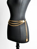 Chanel Vintage Gold Triple Chain Belt - Amarcord Vintage Fashion  - 2