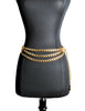 Chanel Vintage Gold Triple Chain Belt - Amarcord Vintage Fashion  - 1