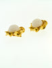 Chanel Vintage Gripoix Gold Twisted Ribbon Earrings - Amarcord Vintage Fashion  - 3
