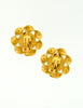 Chanel Vintage Gripoix Gold Twisted Ribbon Earrings - Amarcord Vintage Fashion  - 6