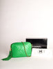 Chanel Vintage Kelly Green Lambskin CC Logo Tassel Shoulder Camera Bag - Amarcord Vintage Fashion  - 11
