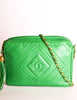 Chanel Vintage Kelly Green Lambskin CC Logo Tassel Shoulder Camera Bag - Amarcord Vintage Fashion  - 3