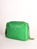 Chanel Vintage Kelly Green Lambskin CC Logo Tassel Shoulder Camera Bag - Amarcord Vintage Fashion  - 4