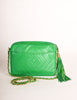 Chanel Vintage Kelly Green Lambskin CC Logo Tassel Shoulder Camera Bag - Amarcord Vintage Fashion  - 5