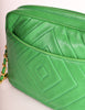 Chanel Vintage Kelly Green Lambskin CC Logo Tassel Shoulder Camera Bag - Amarcord Vintage Fashion  - 10