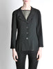 Chanel Vintage Black Wool Peplum Blazer - Amarcord Vintage Fashion  - 2