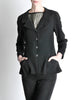 Chanel Vintage Black Wool Peplum Blazer - Amarcord Vintage Fashion  - 3