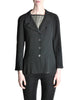 Chanel Vintage Black Wool Peplum Blazer - Amarcord Vintage Fashion  - 1