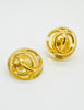 Chanel Vintage Golden CC Lucite Bauble Earrings - Amarcord Vintage Fashion  - 2