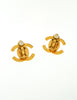 Chanel Vintage Mini Turn Lock CC Clasp Earrings - Amarcord Vintage Fashion  - 4