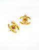 Chanel Vintage Mini Turn Lock CC Clasp Earrings - Amarcord Vintage Fashion  - 2